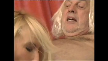 Gina Blonde with ugly Grandpa