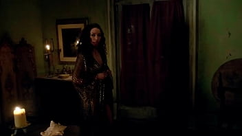 Jessica Parker Kennedy - Strips off her robe in front of man - (uploaded by celebeclipse.com)