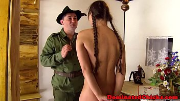 Smalltit Teen Tormented By Rough Soldier