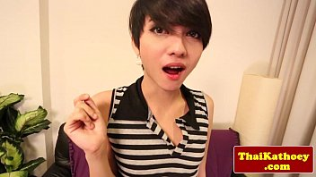Asian tgirl teen beautie wanks her dick