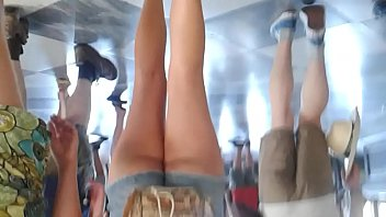 brand new in shorts at the museum 1 - teen short shorts in art gallery 1