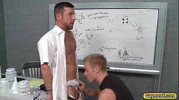 My horny gay teacher - Failing student sucks his teachers dick