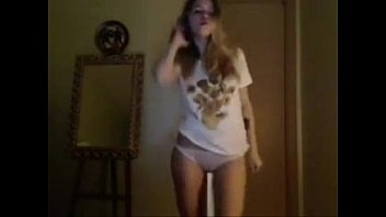 Cutie dancing in underwear porno
