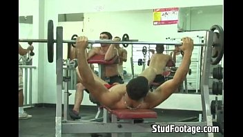 Two horny guys fuck in the gym