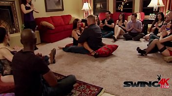 Swinger couples  are reunited in a wild and ho n a wild and horny party