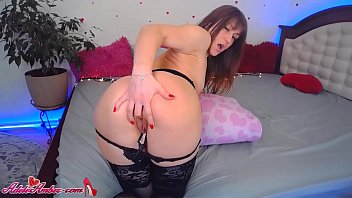Babe in Stockings Passionate Play Pussy Dildo - Homemade