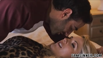 Blonde Stepmom  With Big Tits Seduces Her Step educes Her Stepson