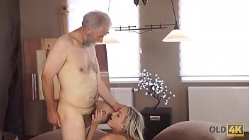 OLD4K. Chick graduated from college and enjoys old and young sex