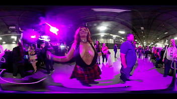 VR video of amateur booby jiggles at EXXXotica NJ 2019