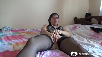 Extreme masturbating with a red dildo had this MILF all worked up for an orgasm.
