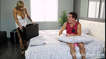 Mom Caught Son Being A Lil Perv And Lets Him Be!