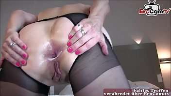 german mature housewife make anal with mega big black cock private homemade