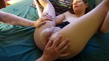 Cuck Eats Interracial Creampie Out Of His Wife's Pussy