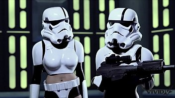 Eve laurence pornstar Vivid parody - 2 storm troopers enjoy some wookie dick