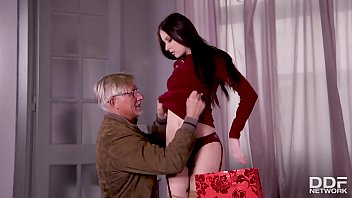Young Milf Rebecca Volpetti's Grandpa fucks her tight asshole with old dick