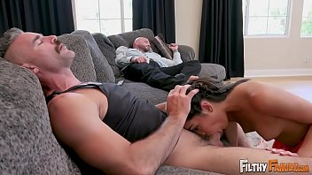 FILTHY FAMILY - Precious Teen Emily Willis Fucks Step Dad & Step Uncle thumbnail