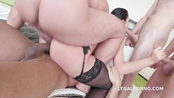 July Sun gets top notch anal service by Monsters of DAP - 100% anal, Gapes