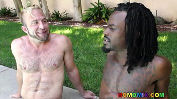 Black monster cock deep in a white gay asshole thumbnail