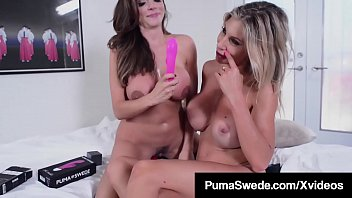 Busty Blonde Puma Swede Tongue Fucks Latina Ariella Ferrera!
