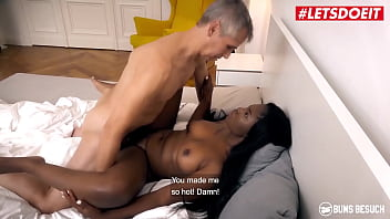 LETSDOEIT - #Sunny Star - Sexy Ebony Teen Rides An Amateur Daddy And She Loves It