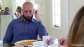 DAUGHTER gets her DADDY to her DIRTY work- Athena Faris
