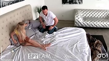 SPYFAM Step Sister CUMS All over big dick