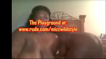 2 Sexy freaky mature black women on cam lesbo play with dildo!Pre