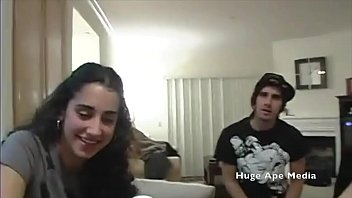 Lebanese Arab girl goes to house party to get fucked (Real Amateur) California