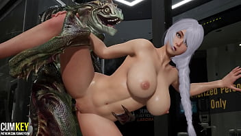 Bitch With Big Tits Was Fucked By Lizard Man | 3D Porn Hentai | Fallen Doll