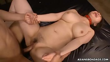 Submissive Asian chick with big tits gets gangbanged by deviants