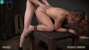 Brutal restrained fuck and throatfuck