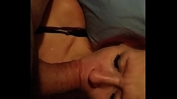 trying to train this slut to suck cock