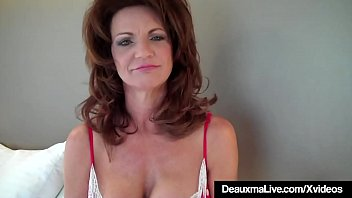 Hot Cougar Deauxma Tests How Deep She Can Go WIth 9in Dildo! image