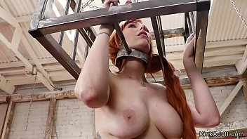 Busty natural redhead anal fucked lezdom