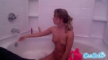 Zoey Taylor Sexy Blonde In The Tub Masturbating With Toys.