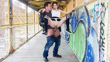 Mad thumbs fucking tgp - Chicas loca - sexy tattooed spanish chick mey madness in crazy public fuck on a bridge