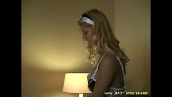 Dutch Maid Wearing Gloves Rough Hotel