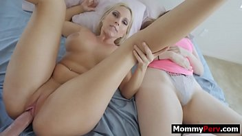 Son fucks milf mom next to his sleeping girlfriend pornhub video