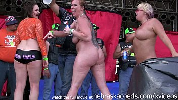 Naked at public Hottest milf contest at the abate of iowa biker rally