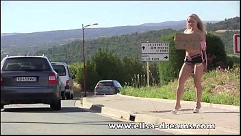 Nude hitchhikers Flashing and nude in public hitchhiking