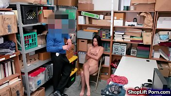 Hot ebony arrested and fucked by officer