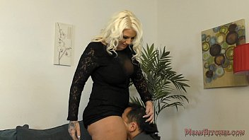 Lucky B Sits on Her Slave's Face - Femdom Ass Worship Thumb