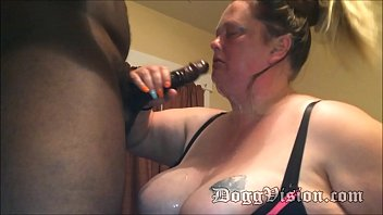 Epic BBW Sloppy Blowjob with 13 Inch BBC
