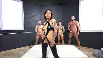 Welcome back Sandra Soul 0% pussy, only anal and DAP...gapes, deepthroat cum swallow 4on1 PAF015