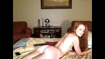 a beautiful submissive wife touches her boobs on hidden camera