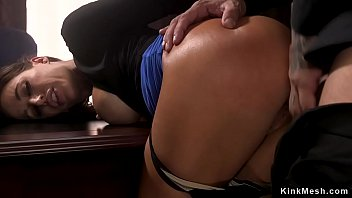 Lawyer Derrick Pierce caught big tits tattooed colleague Gia DiMarco sniffing in his office and then tied her and rough fucked in various positions