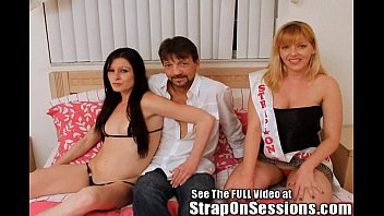 Strap On Princess fucks a couple in the ass