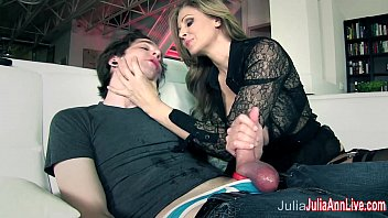 Make boys cum Busty milf julia ann makes boy toy cum on his face