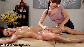 AllGirlMassage She Gives A Hard Pussy Massage To April O'Neil Thumb