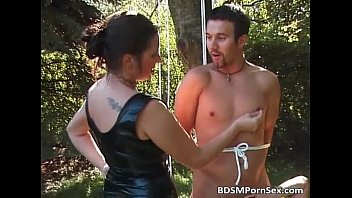 Fanny feeny fuck Outdoor bondage fun with some horny